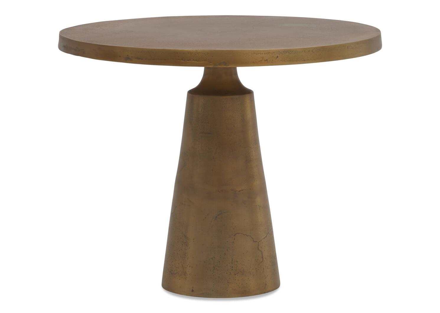"""Gershwin Side Table 24"""" -Brass"""