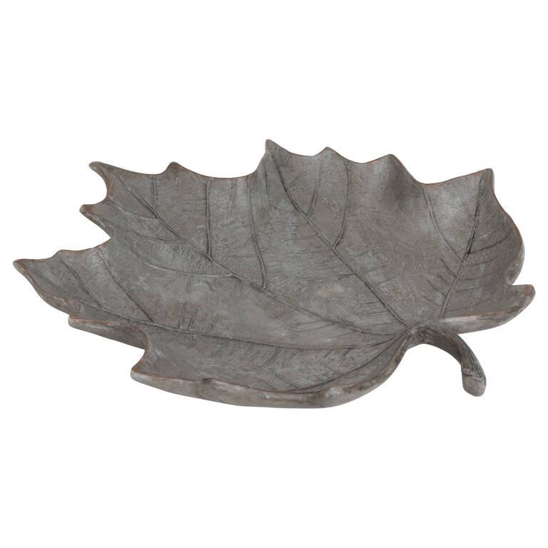 Shay Maple Leaf Dish Grey