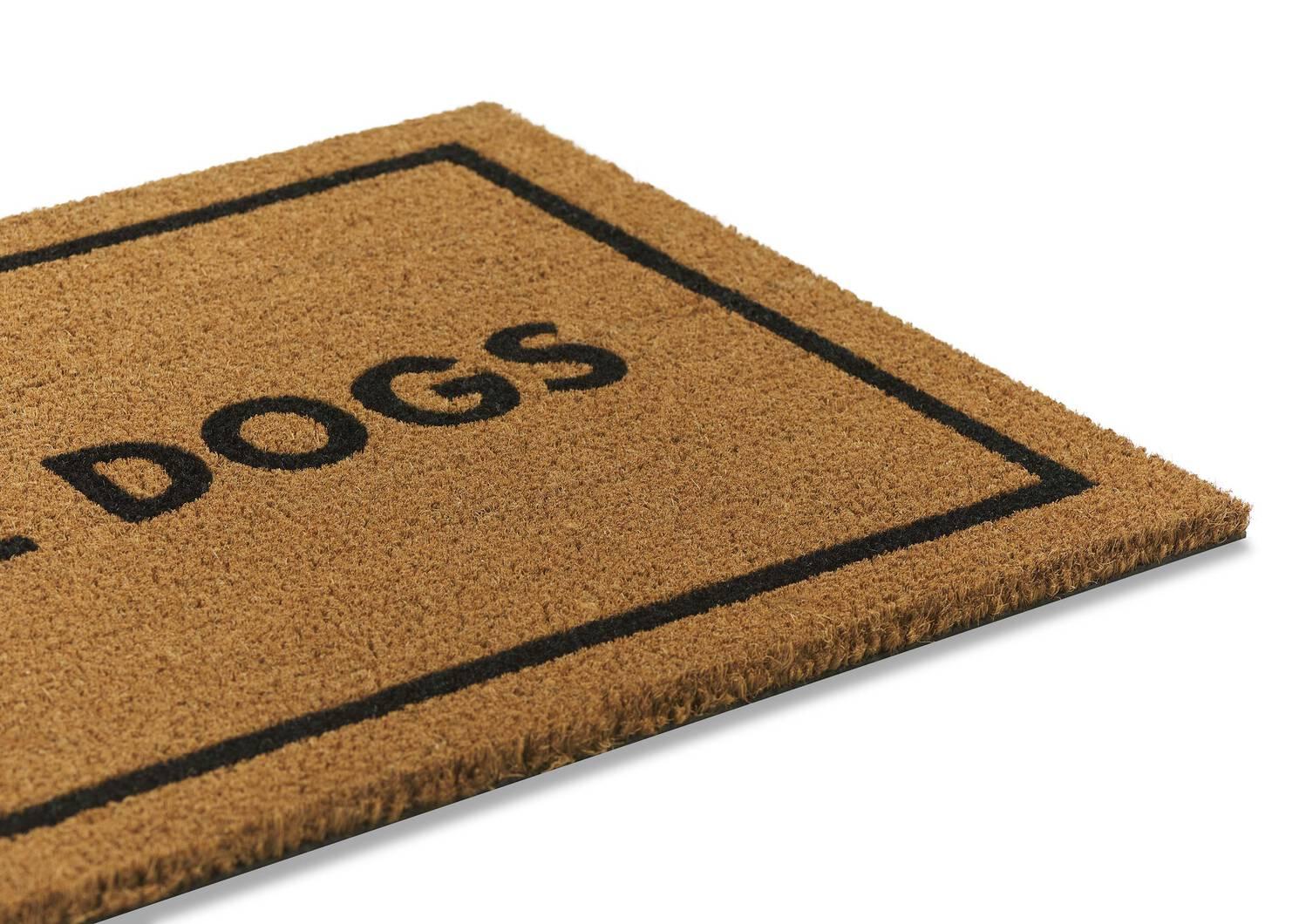 Must Love Dogs Doormat Natural