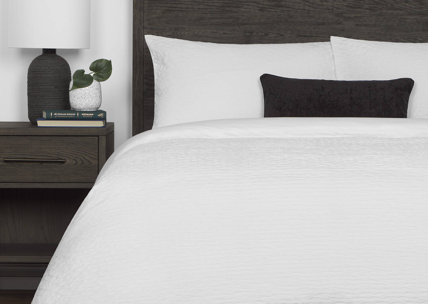 Darcy Duvet Set King White