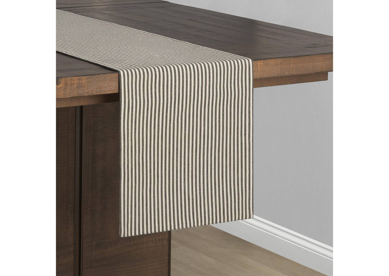 Beaumaris Stripe Table Runner Char/Nat