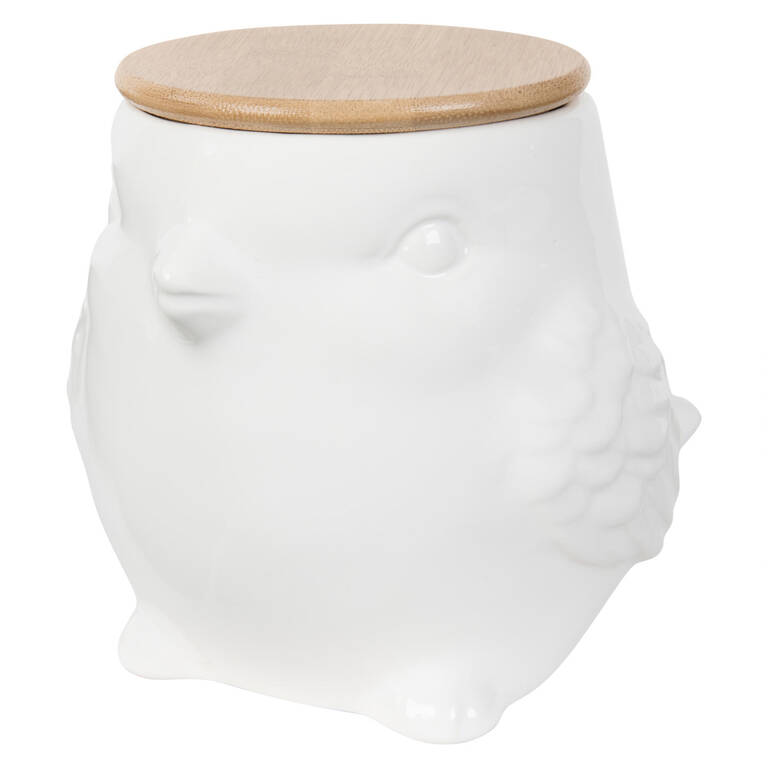 Henni Canister Small White