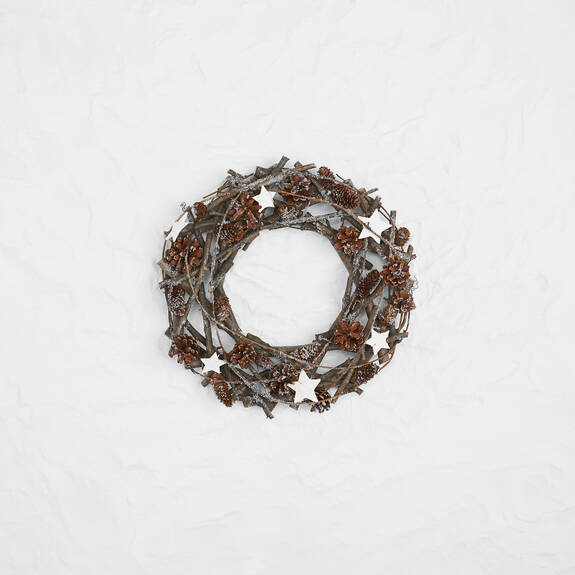 Woodlyn Wreath White/Natural