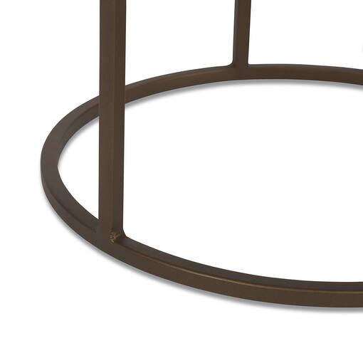 Hemsley Nesting Side Table Set -Brass
