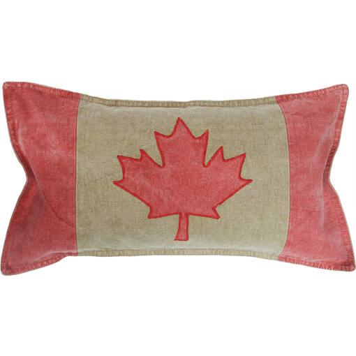 Coussin drapeau Canada 12x22