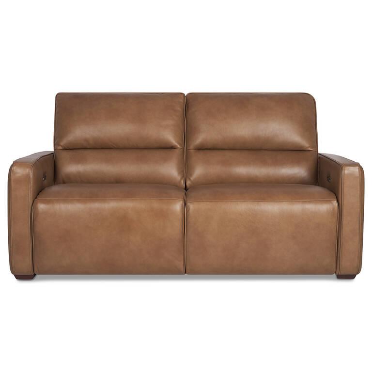 Encore Leather Reclining Sofa Mira Rum