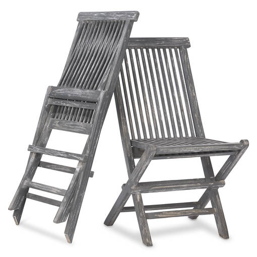Galiano Chairs S/2 -Teak Grey