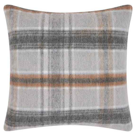 Iain Plaid Toss 20x20 Grey/Caramel
