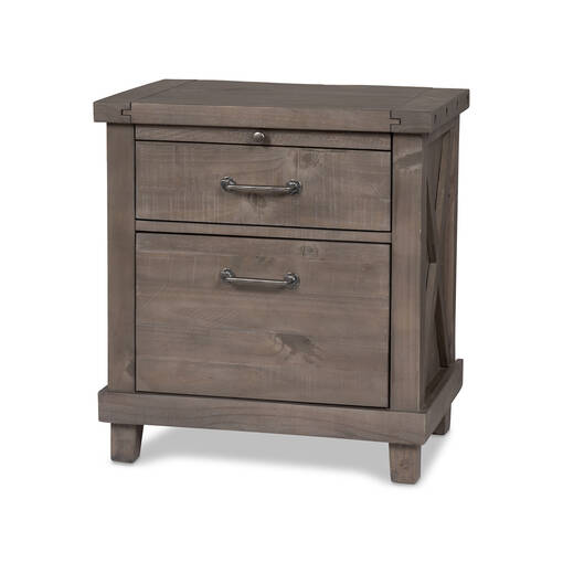 Table de chevet Ironside -gris rustique