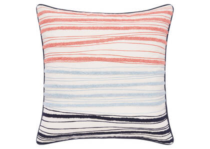 Coussin Locale 20x20 corail/ball/Atl.