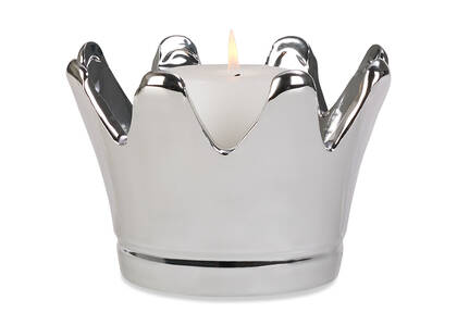 Lizzie Candle Holder Silver