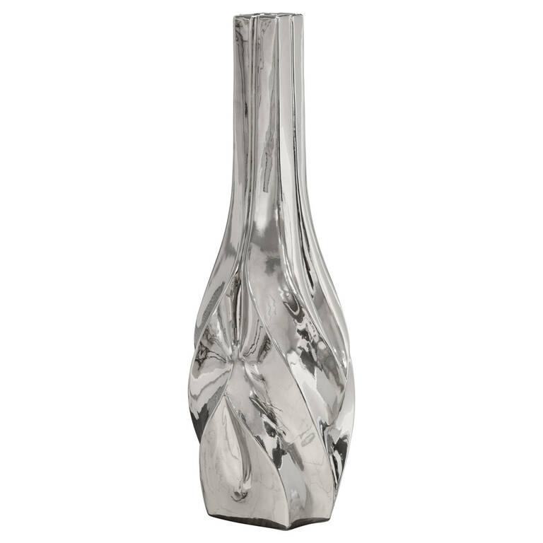 Grand vase Cherice argenté