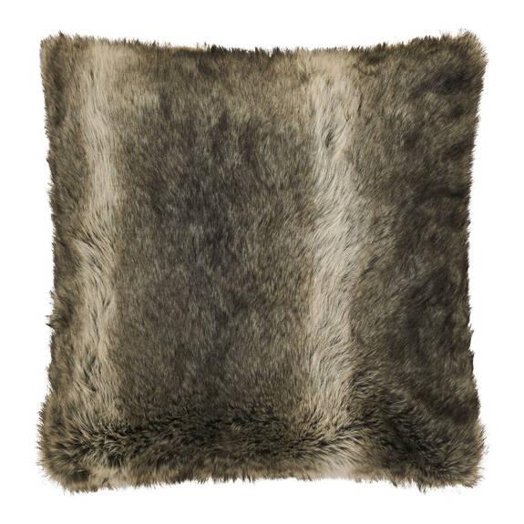 Fauna Faux Fur Toss 20x20 Grey Wolf
