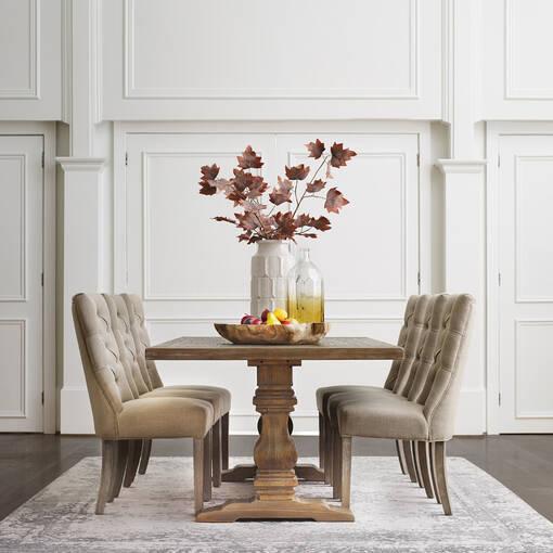 Sussex Dining Table -Brulé Pine