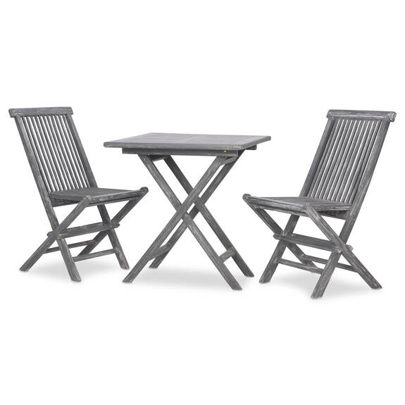 Ens. patio Galiano de 3 pcs -teck gris