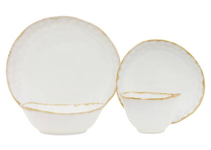 Crofton Glazed 16pc Dish Set White