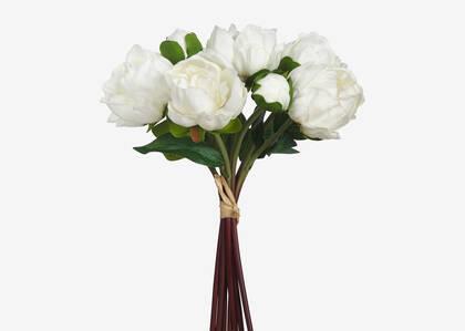 Bouquet de pivoines Liliane blanches