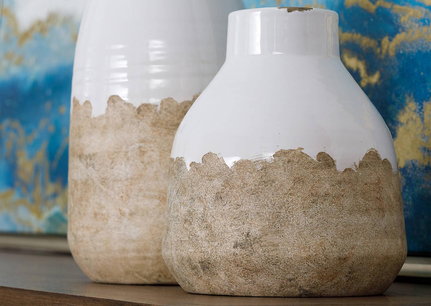 Grand vase Vanna lait/naturel