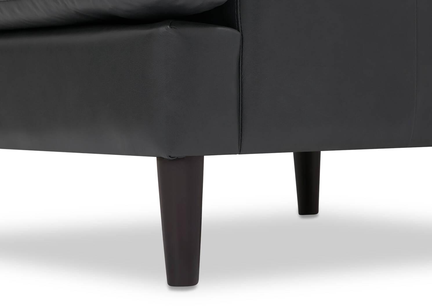 Fauteuil en cuir Savoy -Jett anthracite