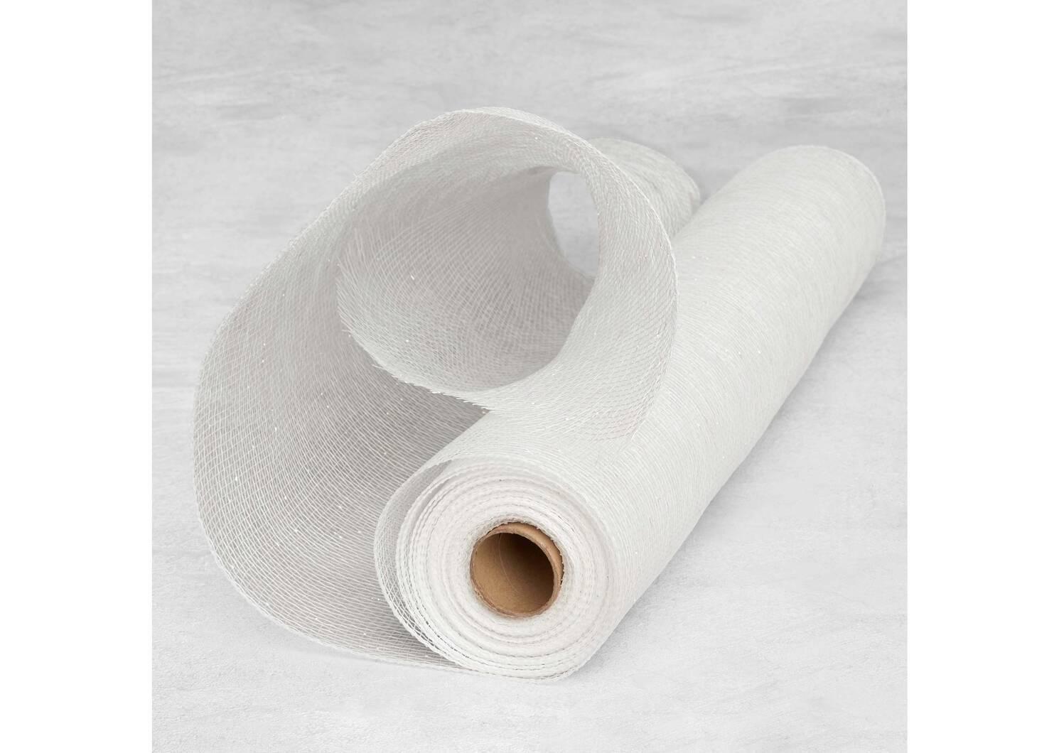 Kringle Metallic Tulle White Iridesce