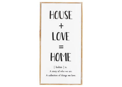 House & Love Wall Plaque