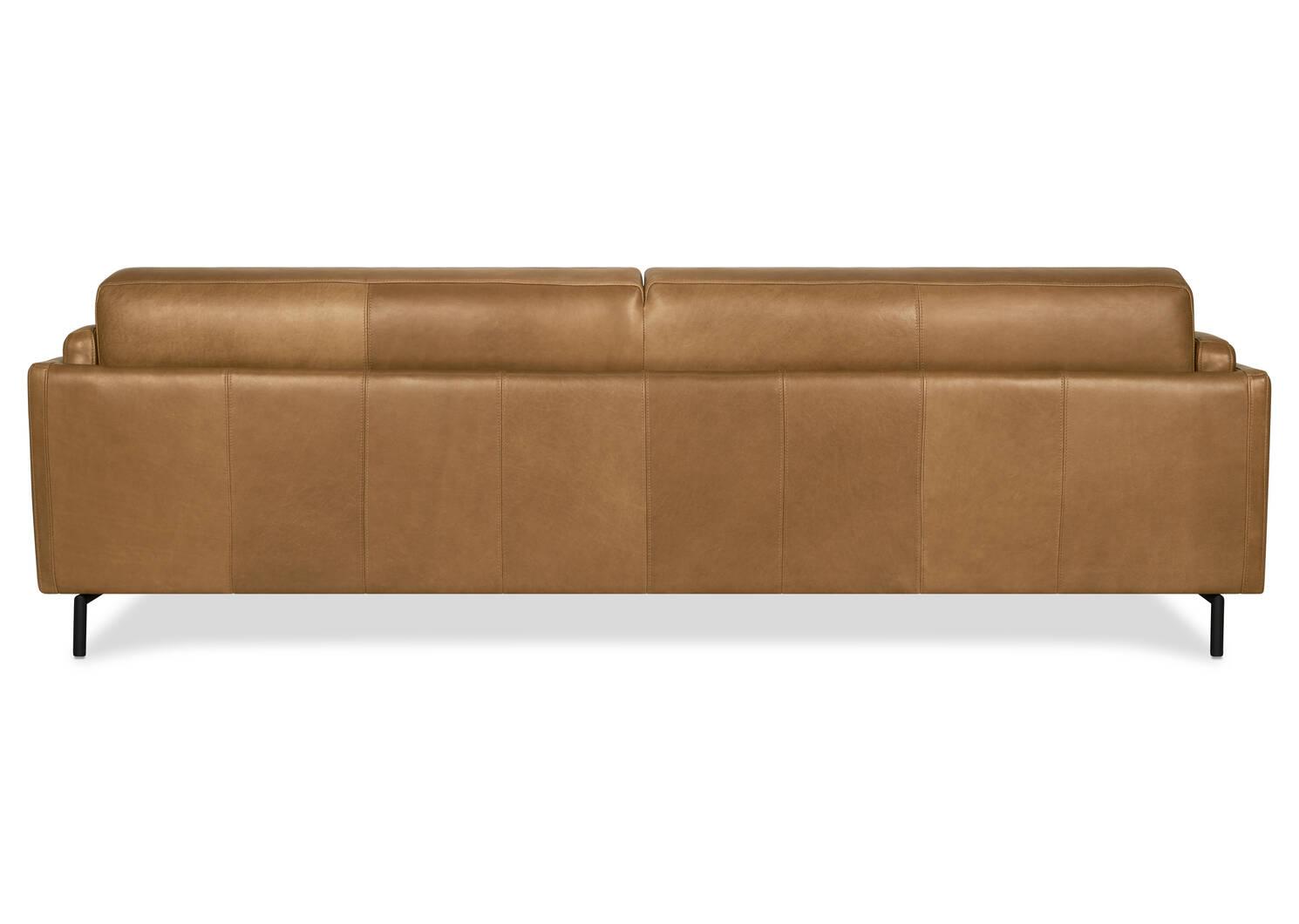 "Renfrew Leather Sofa 94"" -Adler Tan"