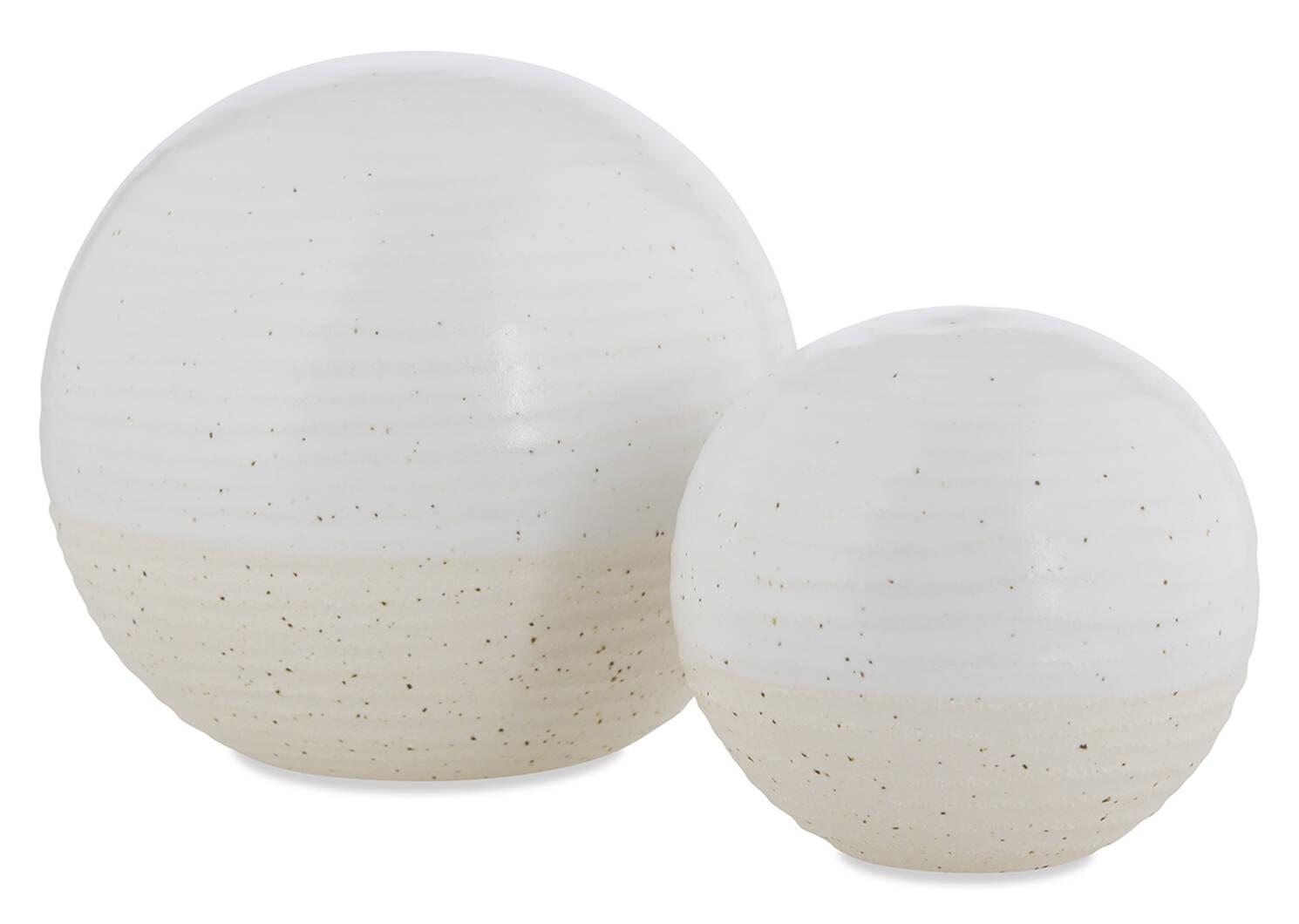 Grande boule décorative Jaylen blanche