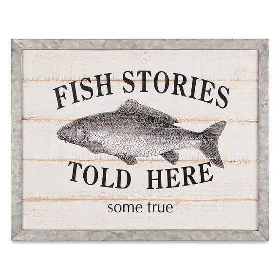 Fish Stories Wall Plaque