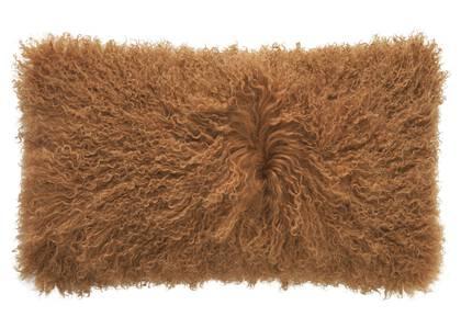 Coussin Mongolian 12x22 caramel