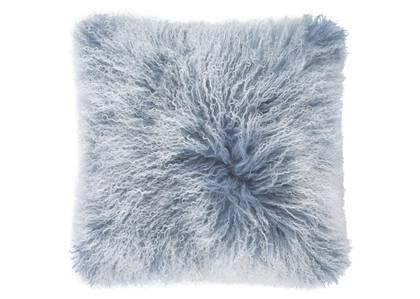 Mongolian Snowy Toss 20x20 Dusty Blue
