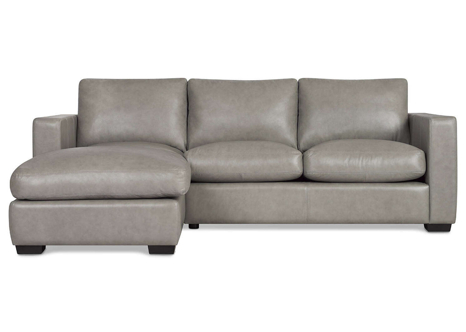 Brewer Custom Leather Sofa chaise