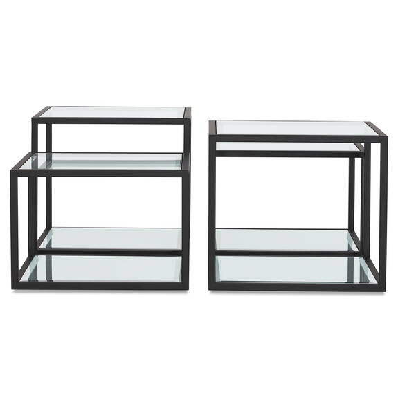 Brady Coffee Table Set -Black