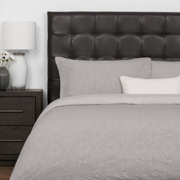 Arden Duvet Set - Grey