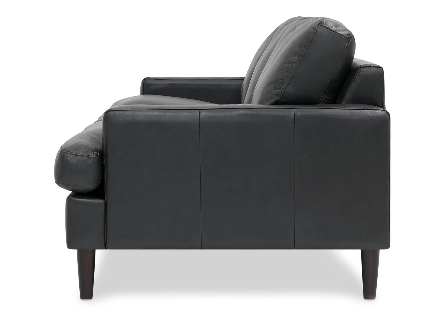Canapé en cuir Savoy -Jett anthracite