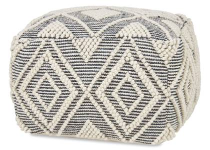 Pouf Olympia marine/ivoire