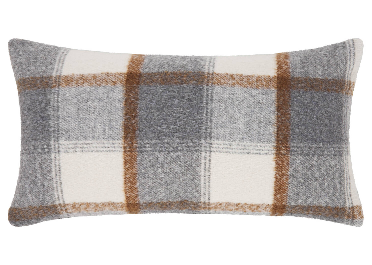 Coussin Cormac 12x22 gris/ivoire/tamarin