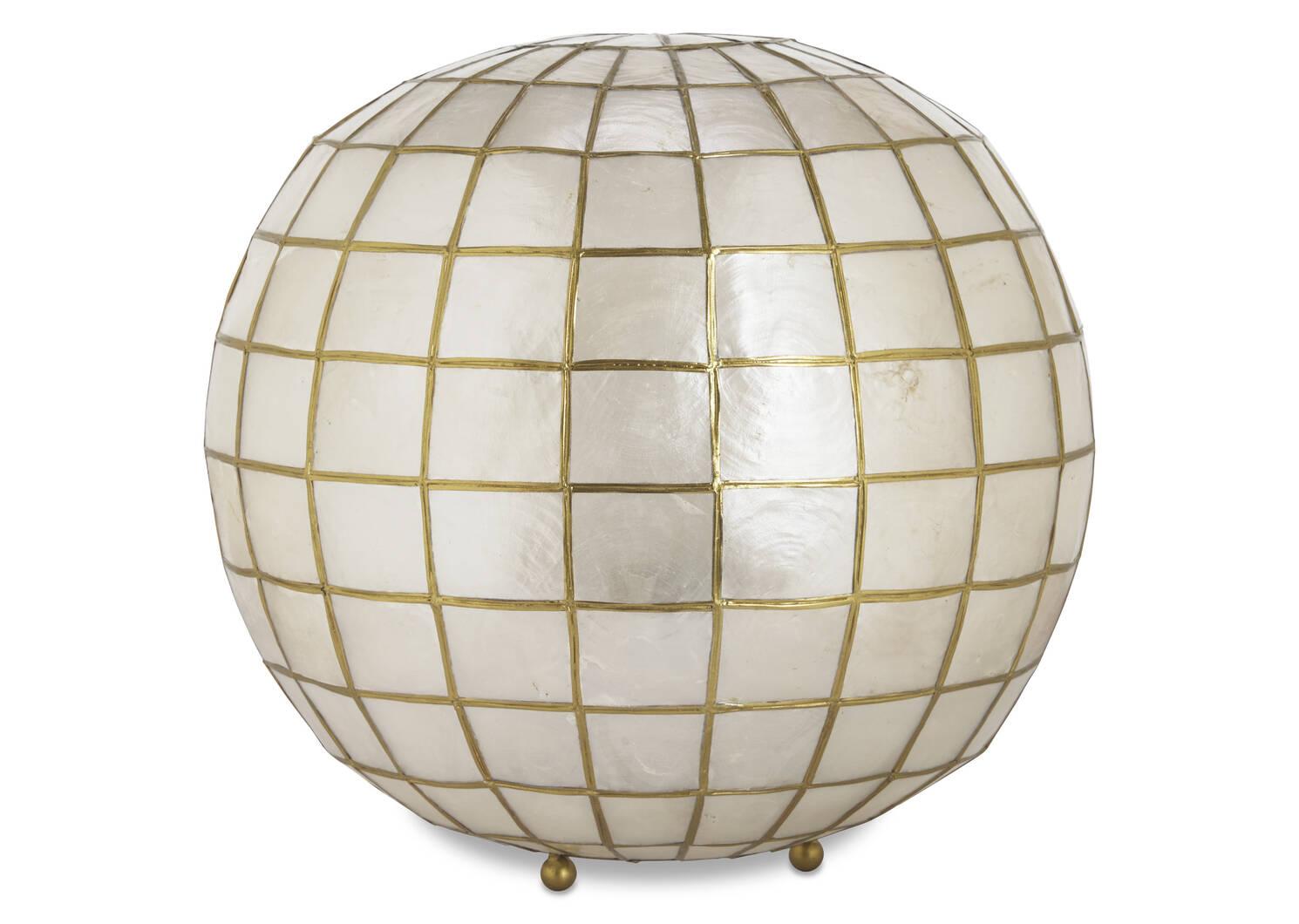 Ensley Capiz Ball Lamp