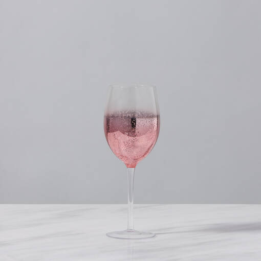 Shimmer Glassware - Rose Gold