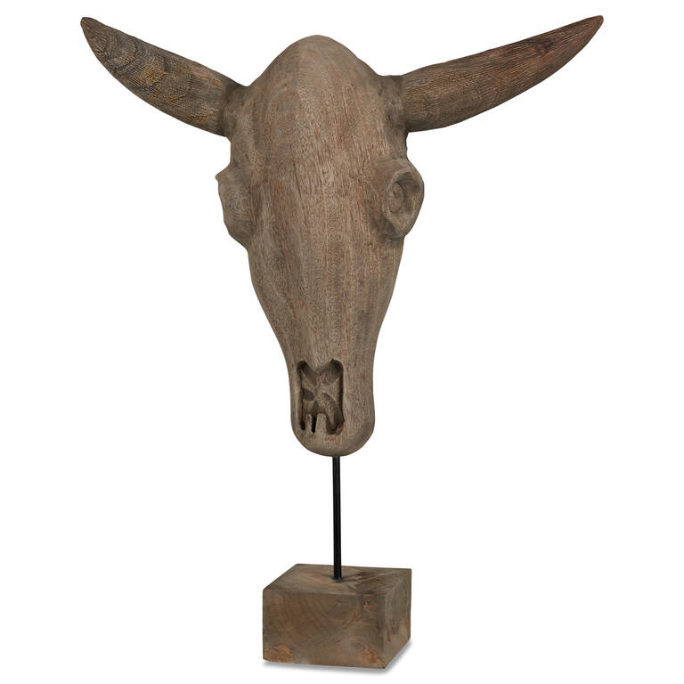 Sculpture de tête de taureau Etan