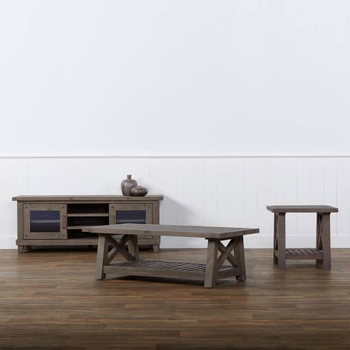Ironside Coffee Table -Rustic Grey