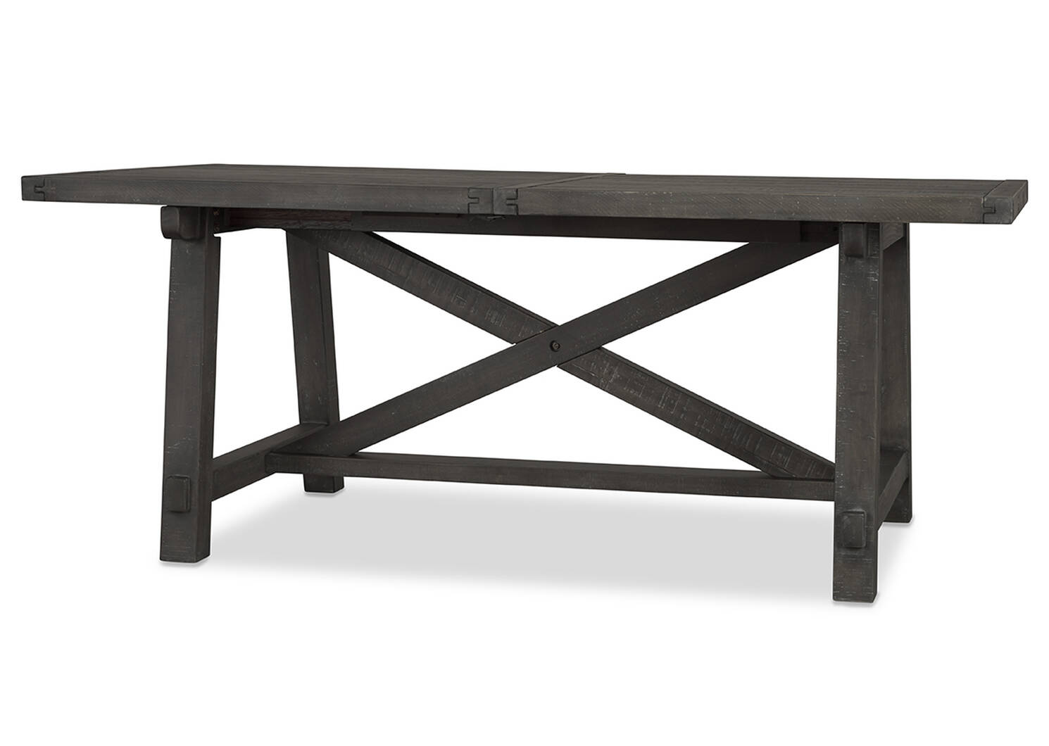 Ironside Ext Dining Table Rect -Smoke