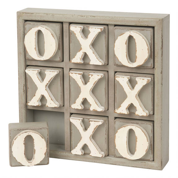 Tic Tac Toe Game Grey