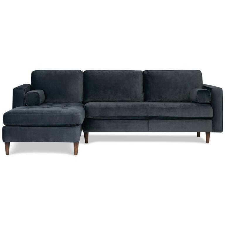 Reynolds Sofa Chaise -Gala Steel