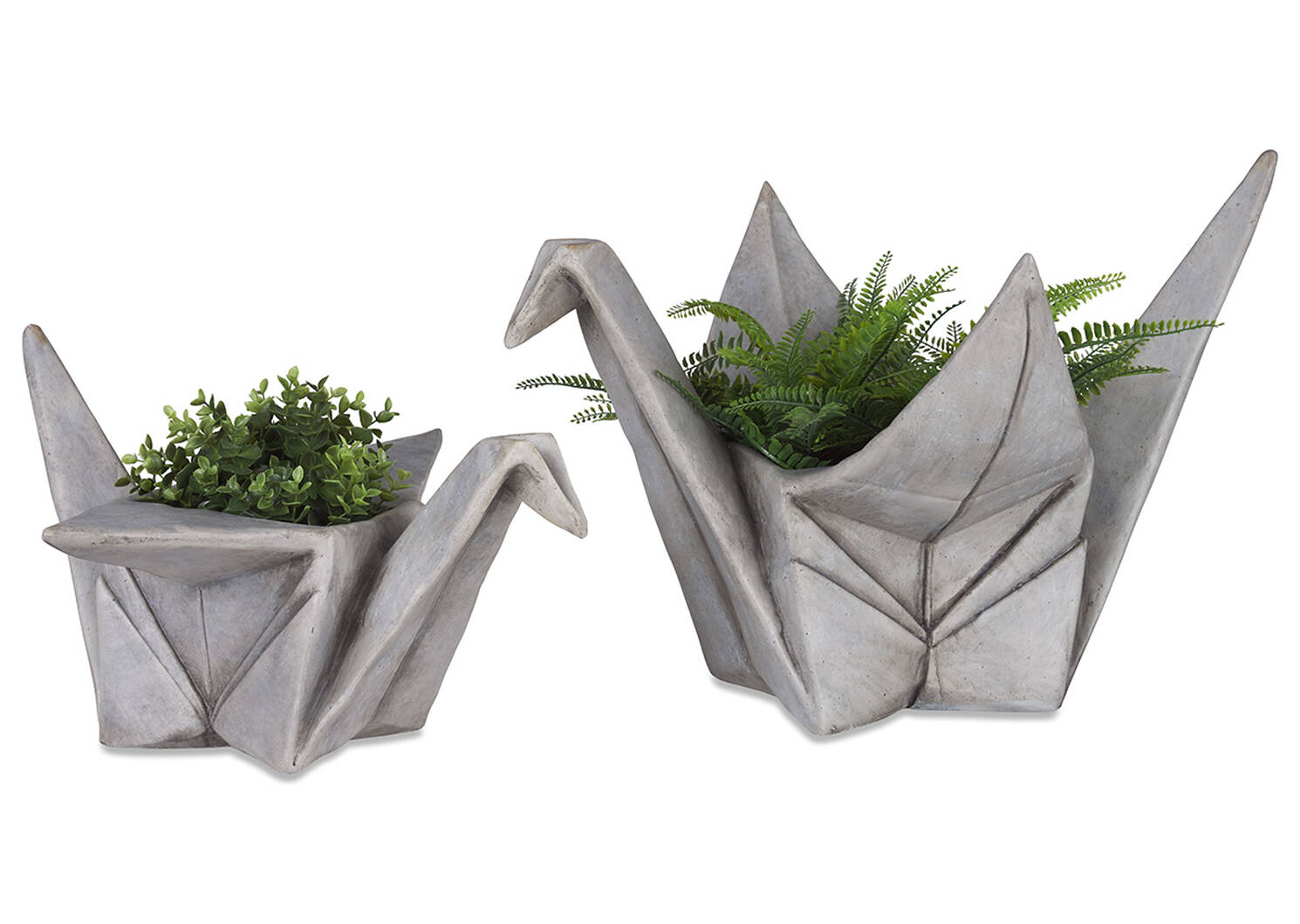 Orizuru Planter Small Grey