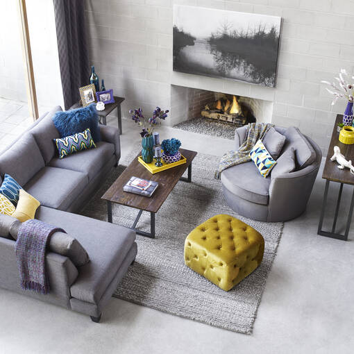 Bronx Sectional -Tony Charcoal