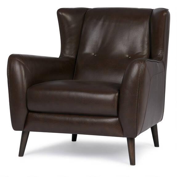 Glover Leather Armchair -Suez Cocoa
