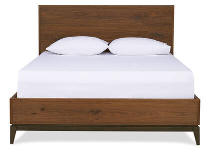 Houston Bed -Harris Walnut, QUEEN