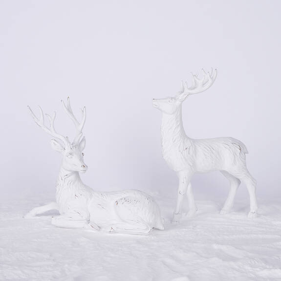 Hans Deer Décor - White