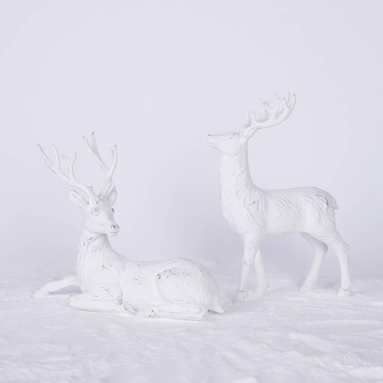 Hans Deer Décor - White