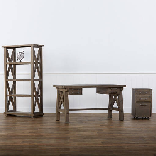 Ironside Display Shelf -Rustic Grey